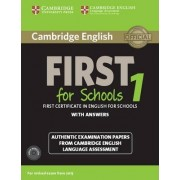 Cambridge English First 1 for Schools for Revised Exam from 2015 Student's Book Pack (Student's Book with Answers and Audio Cds (2)): 1