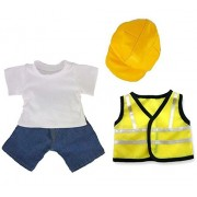 Builder Construction Outfit Teddy Bear Clothes fit Build a Bear factory Teddies