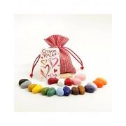 Crayon Rocks Valentine Gift in Red Bag