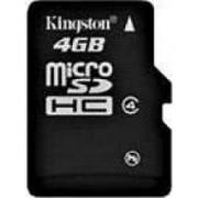 Card de Memorie Kingston microSDHC 4GB Class4 Single Pack