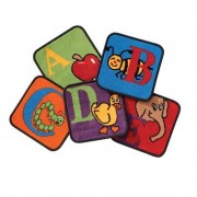 Carpets for Kids Reading by the Book Squares Alphabet Area Rug 2626