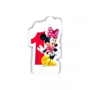 Lumanare party cifra 1 Minnie