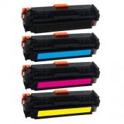 SPS CF400A / CF401A / CF402A / CF403A / HP 201A BLACK CYAN YELLOW MAGENTA ( Complete Set ) Toner Cartridge For HP Color LaserJet Pro M252dw , M252dw , M252n , M252n , MFP M274n , MFP M277dw , MFP M277dw , MFP M277n , MFP M277n