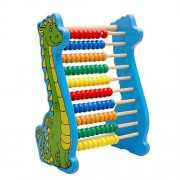 Lewo Classic Wooden Abacus Dinosaur Mathematics Learning Toys For Baby Rainbow Wood Education Beads Toy For Toddlers Babys Birthday Gift