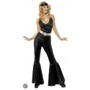 Zwart disco kostuum voor dames L (44-46)