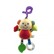 Baby Stroller Toy Soft Baby Rattles with Bells Teether Toy with Multifunction for New Born Early Development
