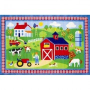 Fun Rugs Olive Kids Country Farm Green Area Rug OLK - 016
