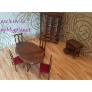 Mobilier miniatura Sufragerie set 7 piese