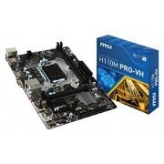 MSI H110M Pro-VH Scheda Madre Intel 1151, Nero