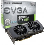 EVGA nVidia GeForce GTX950 FTW ACX 2.0 2GB GDDR5 128-Bit Graphics Card