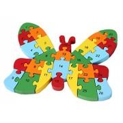 Smile Baby YKK juguete 3d de puzzles de madera de construcción construcción Madera Puzzle multicolor mariposas Talla:Größe:22cm*15cm