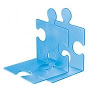 Han 9212-64 - Soporte para CD o libros en forma de pieza de puzzle, color azul transparente [importado de Alemania]