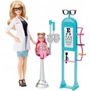 Papusa Barbie oftalmolog Mattel BRB Doctor Playset CMF42