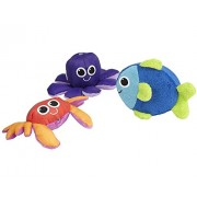 Sassy Soft Swimmers Animal Characters Bath Toy, 3 Pack [Baby Product] (Japan Import)