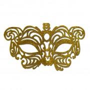 Gold Cat Eye Glitter Masquerade Mask