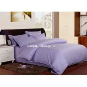 Lenjerie de pat dublu damasc culoarea mov