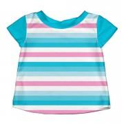 Bluză cu filtru UV - iPlay - Aqua Pink Stripes, 3T