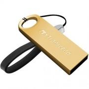 USB kľúč 32GB Transcend JetFlash 520, Gold Plating