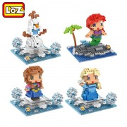 LOZ Princess Ariel Elsa Anna Olaf Toy Doll Building Block Model Adornment Decoration Gift Children's Toys