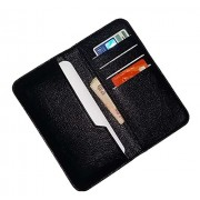 Wise Guys Leather Feel Flip Flap Wallet Pouch Case Cover with Card Slots for Panasonic P88