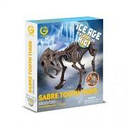 Geoworld CL749K - Ice Age Excavation Kit, Sabre Tooth Tiger Skeleton