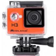 Camera Video de Actiune Midland H3, Filmare HD, Rezistenta la apa pana la 30 m (Portocaliu)