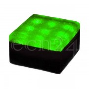 K&K Products 12V LED Pflasterstein 10 x 10 cm grün