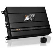 Lanzar RDA753D Reign Amplificador compacto híbrido de 3 canales, clase D (4000 W) con control remoto de subwoofer