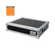 """AWEO 2 HE Amp Rack 19"""" Double Door 45 CM Flightcase Butterfly orange"""