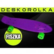 Deskorolka 4s Pennyboard Fishboard Violet/Green