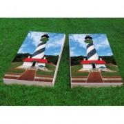 "Custom Cornhole Boards St. Augustine Lighthouse Cornhole Game CCB145 Bag Fill: Whole Kernel Corn, Size: 48"""" H x 12"""" W"