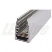 Inny PROFIL aluminiowy na szybę 6 mm do TAŚMY LED 2 metry