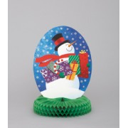 Snowman Gifts Honeycomb Party Table Centrepiece