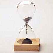 relógio de areia magnética ímã engraçado vidro da hora