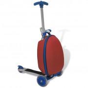 vidaXL Červená koloběžka s Předním boxem na zavazadla pro děti