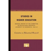 Studies in Higher Education by Commi Committee on Educational Research