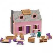 Детска дървена къща с обзавеждане - 13701 - Melissa and Doug, 000772137010