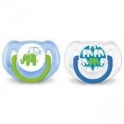 Комплект ортодонтични залъгалки - Слончета, Philips Avent, налични 2 цвята, 079438