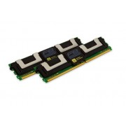 Kingston KVR667D2D4F5K2/16G Memoria RAM da 16 GB, 667 MHz, DDR2, ECC Fully Buffered CL5 DIMM Kit (2x8 GB), 240-pin