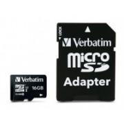 Memoria Flash Verbatim, 16GB microSDHC Clase 10, con Adaptador