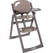Babymoov Chaise haute bébé light wood taupe/fusain