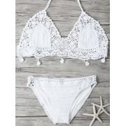 rosegal Crocheted Bikini Set
