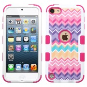 Funda Protector Triple Layer Apple Ipod Touch 5G / 6G Rosa zigzag Decorada
