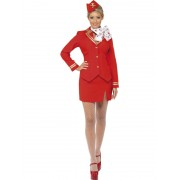 Costum carnaval femei stewardesa rosu