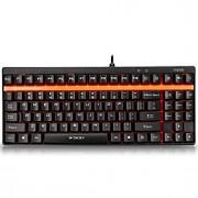Rapoo teclado para jogos teclado mecânico v500 eixo verde por teclas programáveis pro