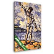 Paul Cézanne: Úszó kitárt karral (20x25 cm, Vászonkép )