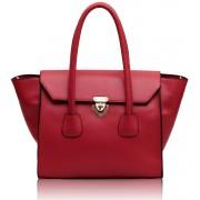 Kabelka LS00183 - Pink Twist Lock Shoulder Handbag