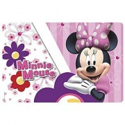 Zak! Designs Placemat with Minnie Mouse Bows Go with Everything BPA-free Plastic