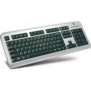 Tastatura A4-Tech Slim Sun LCD-720 USB Negru-Argintiu