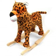 Happy Trails Plush Cheetah Rocking Animal with Sound
